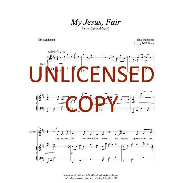 image relating to Jesus Printable known as My Jesus, Affordable - Unison (optional 2-component) Printable Obtain