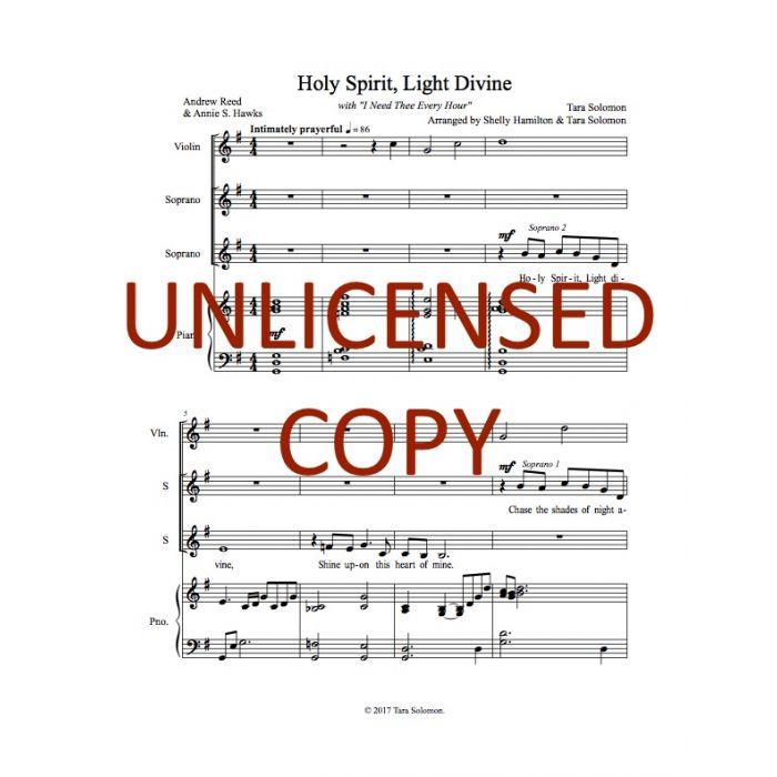 Holy Spirit, Light Divine - Soprano Duet - Digital Download