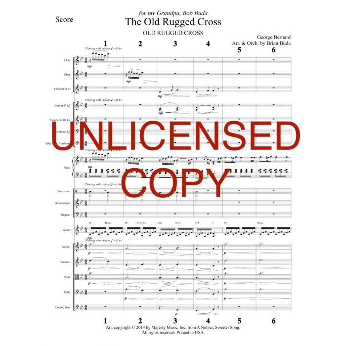 photograph relating to Old Rugged Cross Printable Sheet Music identify Aged Rugged Cross - Piano Orchestration - Printable Down load