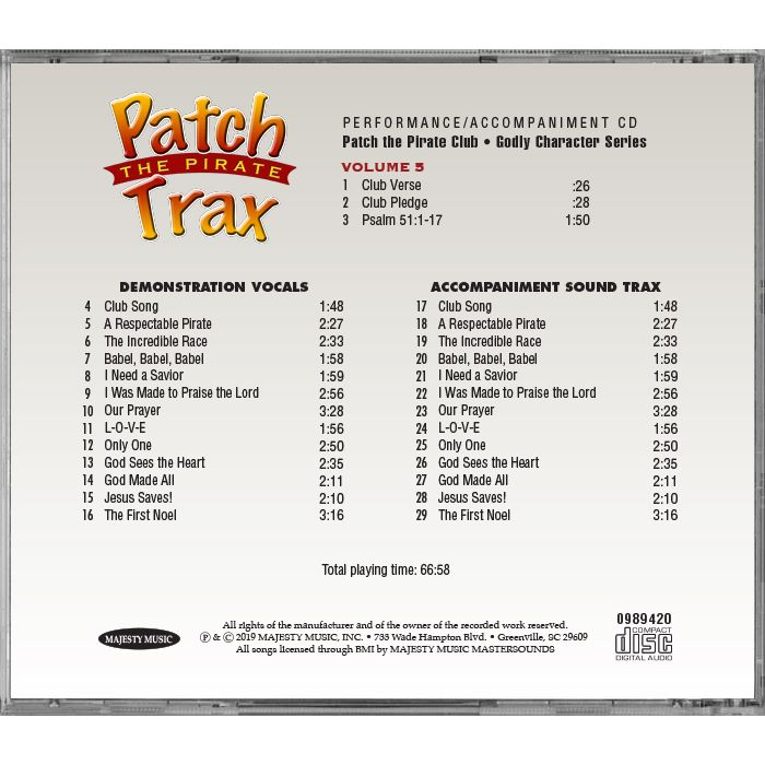CD - Patch Club Trax Vol  5