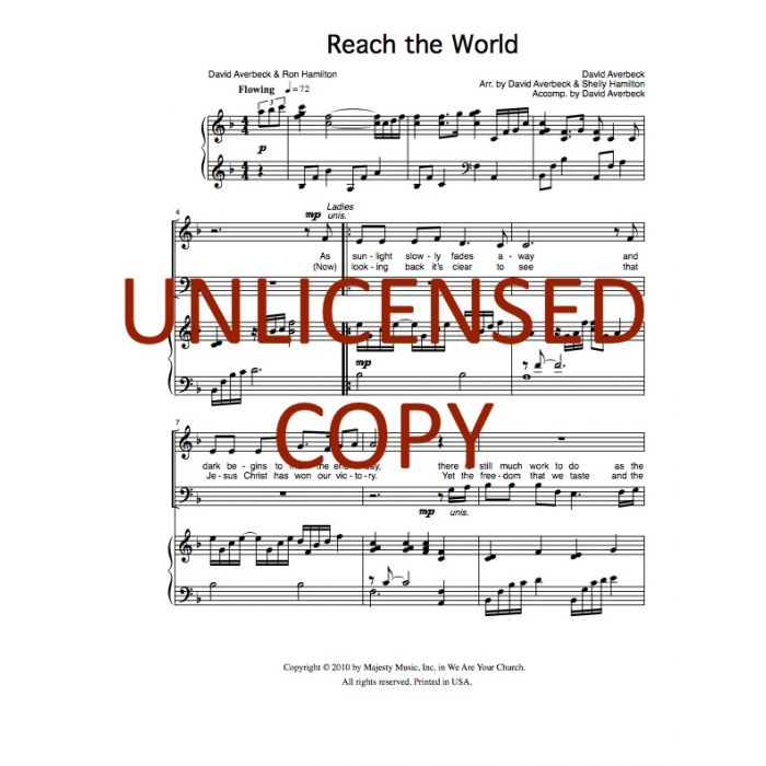 Reach the World - Choral Octavo - Printable Download