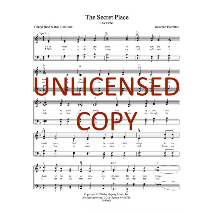 The Secret Place Hymnal Style Printable Download