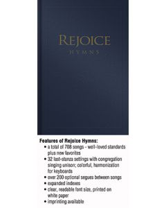 Rejoice Hymns - Navy - (Quantity orders must include church name and address.)