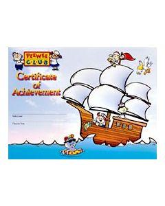 PeeWee Club Award - Ship Certificate