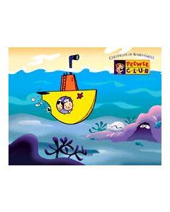 PeeWee Club Award - Submarine Certificate