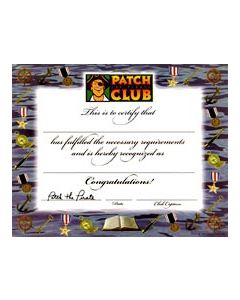 Nautical Theme Certificate (Quantity: 1)