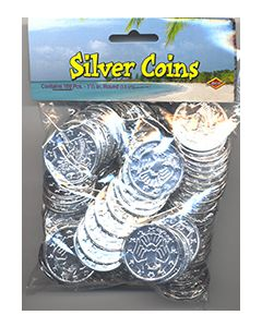 Patch the Pirate Treasure (Silver Bit Coin) 100 per pack - Cannot ship Medial Mail