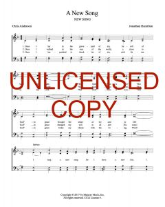 A New Song - Hymnal Style - Printable Download