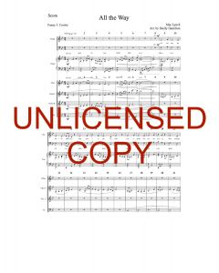 All the Way (Simply Majesty Version) - Printable Orchestration - Printable Download