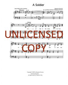 A Soldier - Choral Octavo - Printable Download