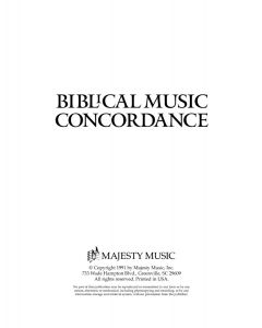 Biblical Music Concordance - Printable Download