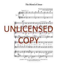 The Blood of Jesus - Choral - Printable Download
