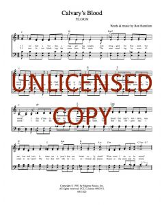 Calvary's Blood - Hymnal Style - Printable Download