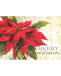 Poinsettia - 20 Holiday Cards and Envelopes