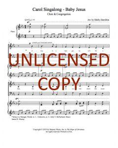 Carol Singalong - Baby Jesus - Choral w/ Congregation - Printable Download