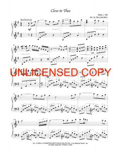 Close to Thee - Solo Piano Sheet Music - Printable Download