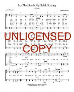 Joy That Sends My Spirit Soaring - Hymnal Style - Printable Download