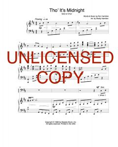 Tho' It's Midnight - Solo w/ Choral - Printable Download