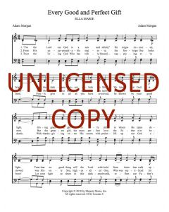 Every Good and Perfect Gift - Hymnal Style - Printable Download