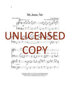 My Jesus Fair - Choral - Printable Download