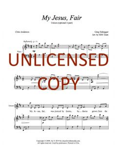 My Jesus, Fair - Unison (optional 2-part) Printable Download