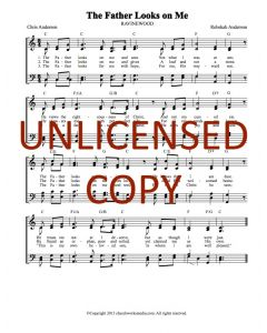 The Father Looks on Me - Hymnal Style - Printable Download