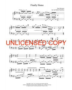 Finally Home - Solo Piano Sheet Music - Printable Download