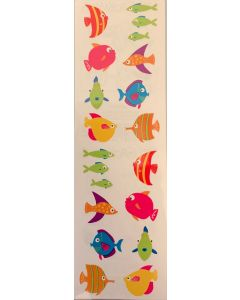 Fish Stickers/16 stickers (2 sheets per pack) - Cannot ship Media Mail.