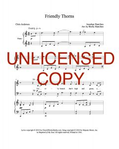 Friendly Thorns - Choral - Printable Download