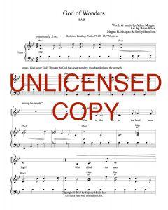 God of Wonders  - Simply Majesty SAB Version - Choral - Printable Download