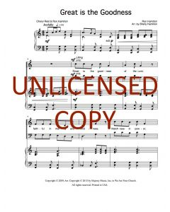 Great Is the Goodness - Choral - Printable Download
