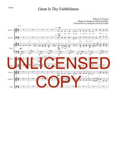 Great Is Thy Faithfulness (Simply Majesty Version) - Printable Orchestration - Printable Download