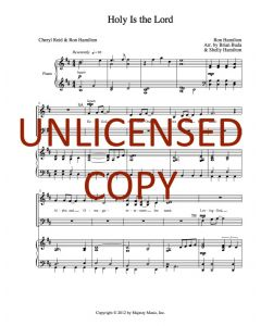 Holy Is the Lord - Choral - Printable Download