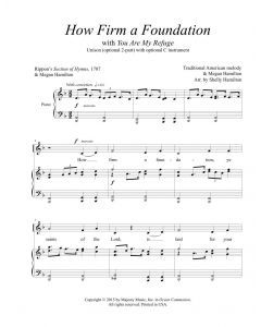 How Firm a Foundation (You Are My Refuge) - Unison (optional 2-part)