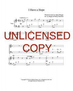 I Have a Hope - Choral - Printable Download