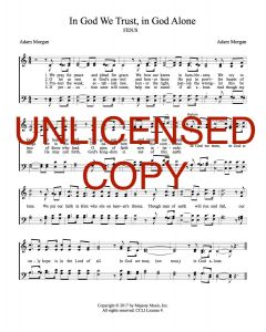 In God We Trust, In God Alone - Hymnal Style - Printable Download