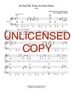 In God We Trust, In God Alone - SATB Choral Version - Printable Download