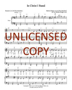 In Christ I Stand - Piano/Vocal - Printable Download