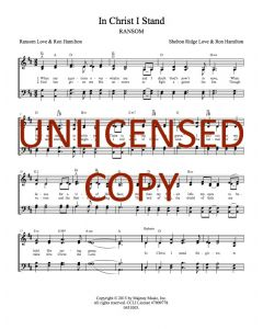 In Christ I Stand - Hymnal Style - Printable Download