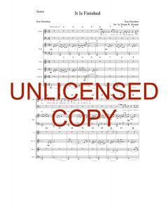 It Is Finished (Simply Majesty Version) - Printable Orchestration - Printable Download