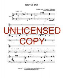 Jehovah-jireh - Choral - Printable Download