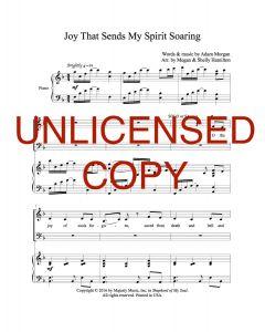 Joy that Sends My Spirit Soaring - Choral Octavo - Printable Download