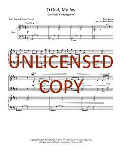 O God, My Joy - Choral w/ Congregation - Printable Download