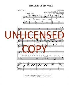 The Light of the World - Choral - Printable Download