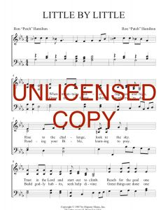 Little by Little - Patch Praises Printable Song