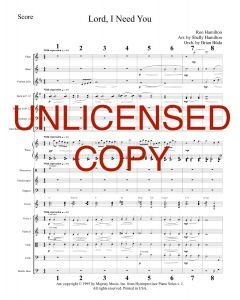 Lord, I Need You - Piano Orchestration - Printable Download