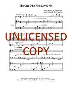 The One Who First Loved Me - Choral - Printable Download