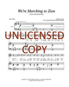 We're Marching to Zion - Unison (opt. harmony) Printable Download