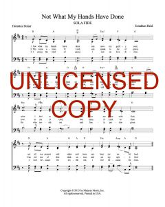 Not What My Hands Have Done - Hymnal Style - Printable Download