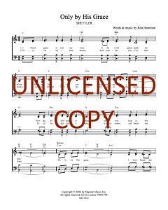 Only by His Grace - Hymnal Style - Printable Download